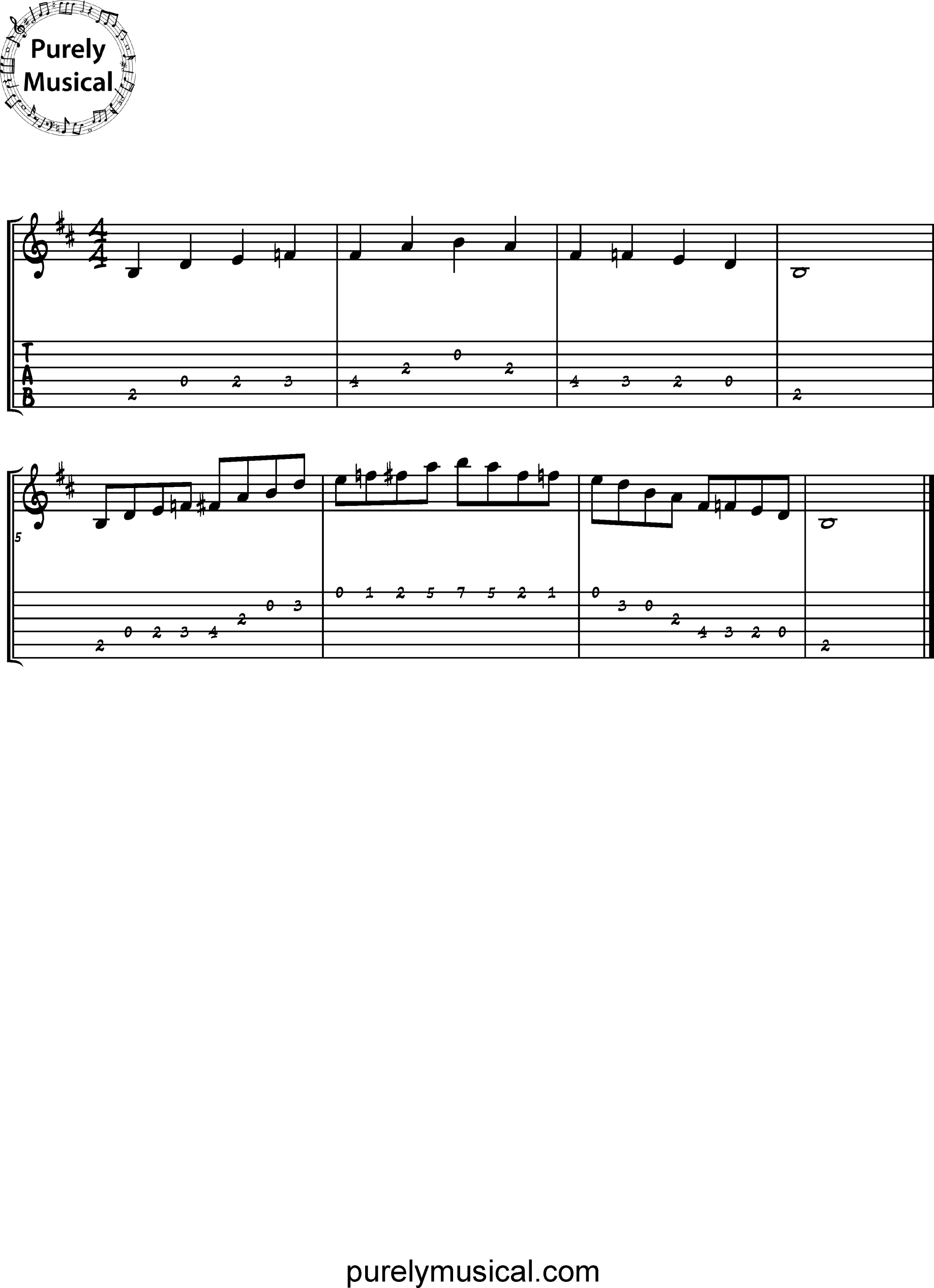 Beginner  Scale B Blues
