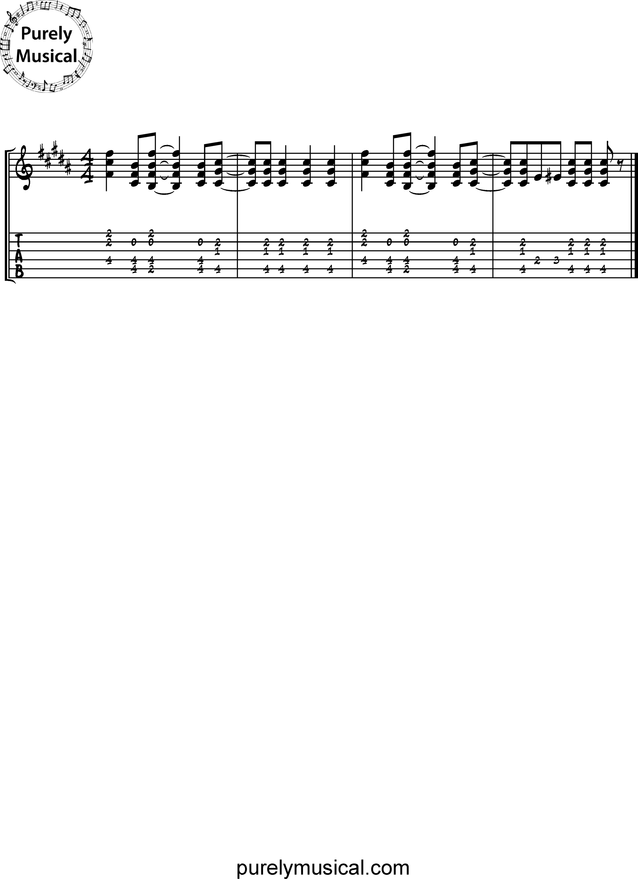 Intermediate  Rhythm Exercises B Minor Rock Groove